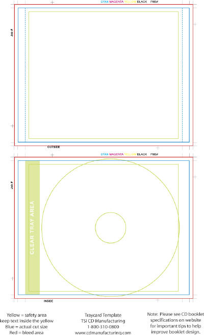 CD Jewel Case Tray Card